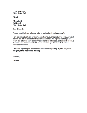 How To Write A Negative Resignation Letter