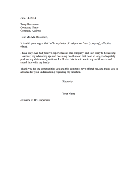 Sample Letter Declining Resignation