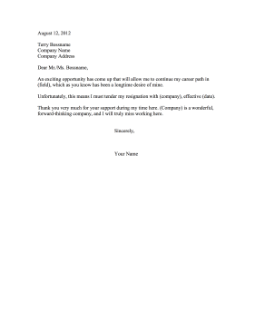 company format of resignation letter  resignation letters two    resignation letters two weeks notice