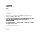 Specific Job Resignation Letters